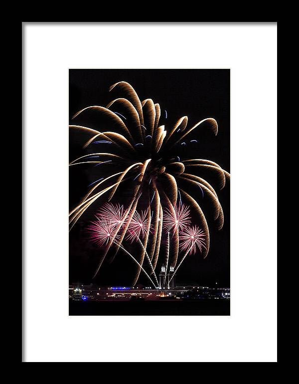 Fireworks Framed Print featuring the photograph Fireworks Festivities by Andrew Soundarajan