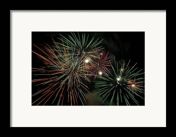 Fireworks Framed Print featuring the photograph Fireworks by Glenn Gordon