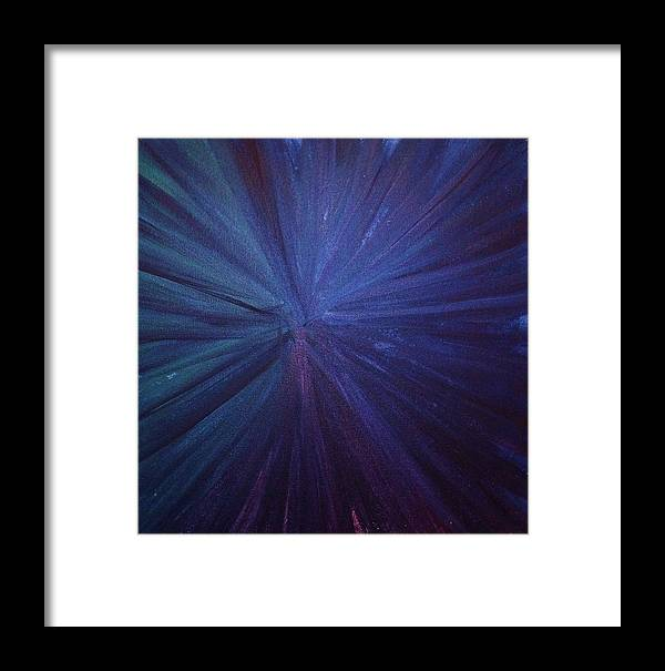 Firework Framed Print featuring the painting Fireworks I by Anna Villarreal Garbis