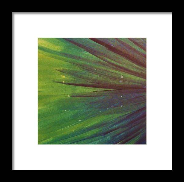 Firework Framed Print featuring the painting Fireworks IIi by Anna Villarreal Garbis