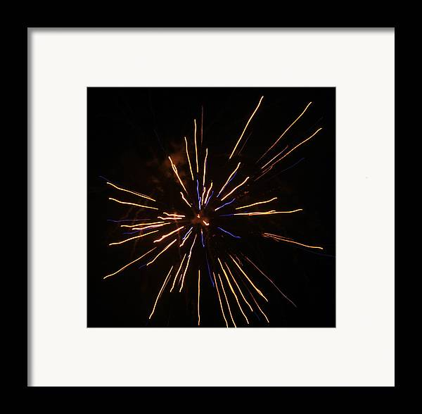 Fireworks Framed Print featuring the photograph Fireworks by Kenna Westerman