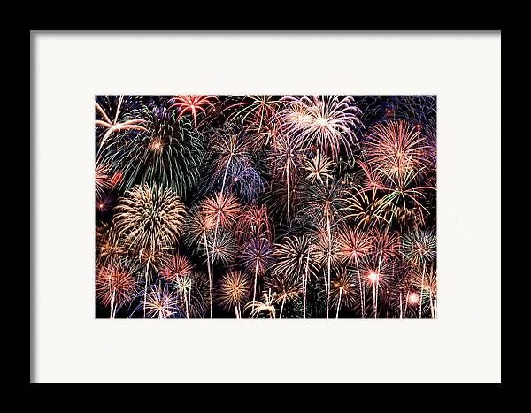 4th Framed Print featuring the photograph Fireworks Spectacular II by Ricky Barnard