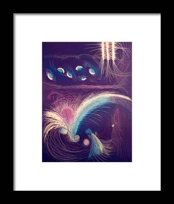Abstract Framed Print featuring the mixed media Fireworks by Steve Karol