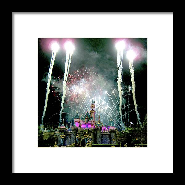 Fireworks Framed Print featuring the photograph Fireworks To End The Day by Michael Riley