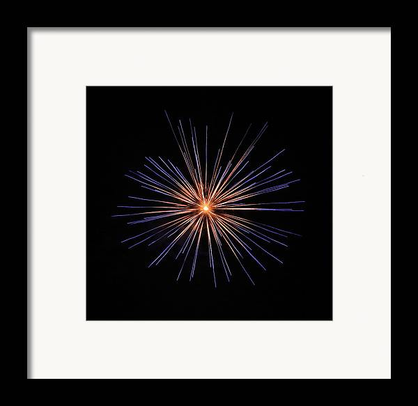 Fireworks Framed Print featuring the photograph Fireworks Two by Kenna Westerman