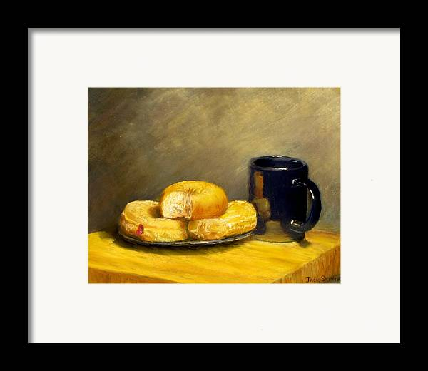 Still Life Framed Print featuring the painting First Call...breakfast by Jack Skinner