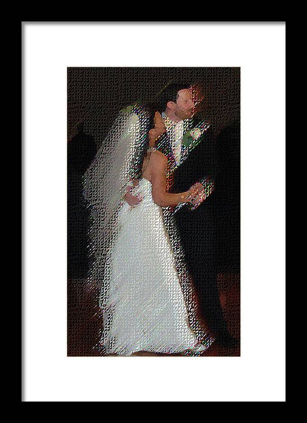Wedding Framed Print featuring the digital art First Dance by JoAnne Castelli-Castor