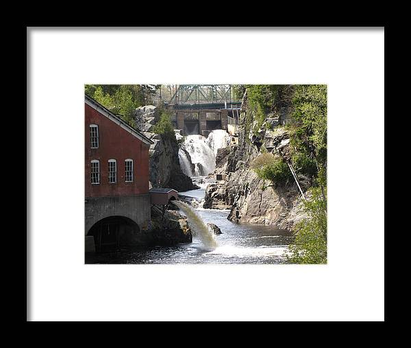 Falls Framed Print featuring the photograph First Falls by Melissa Parks