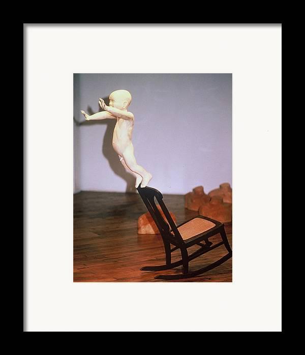 Baby Framed Print featuring the sculpture First Flight by Gordon Becker
