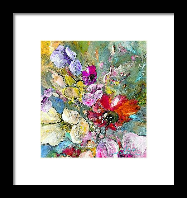 Nature Painting Framed Print featuring the painting First Flowers by Miki De Goodaboom