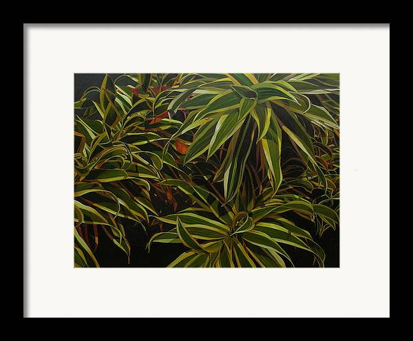 Leaves Framed Print featuring the painting First In Cabot by Thu Nguyen