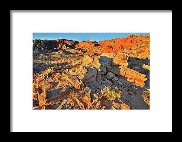 Valley Of Fire State Park Framed Print featuring the photograph First Light On Valley Of Fire State Park by Ray Mathis