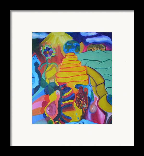Framed Print featuring the painting First Or Second by Joseph Arico