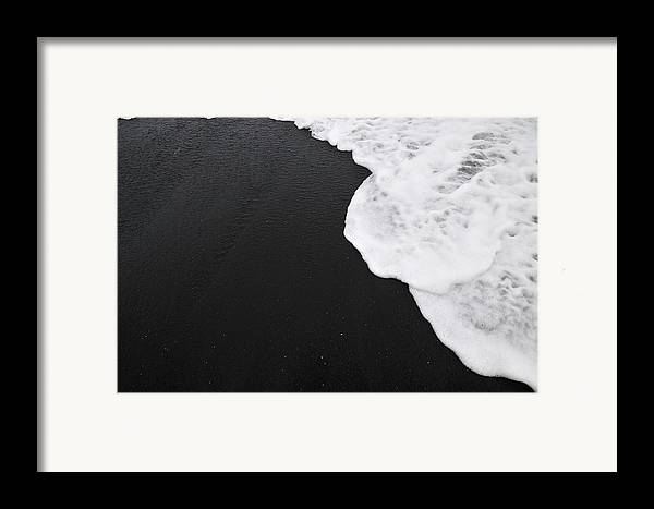 Black Sand Framed Print featuring the photograph First Principles by Andy Smy