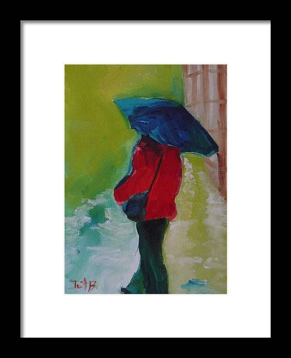 Figurative Framed Print featuring the painting First Rain by Irit Bourla