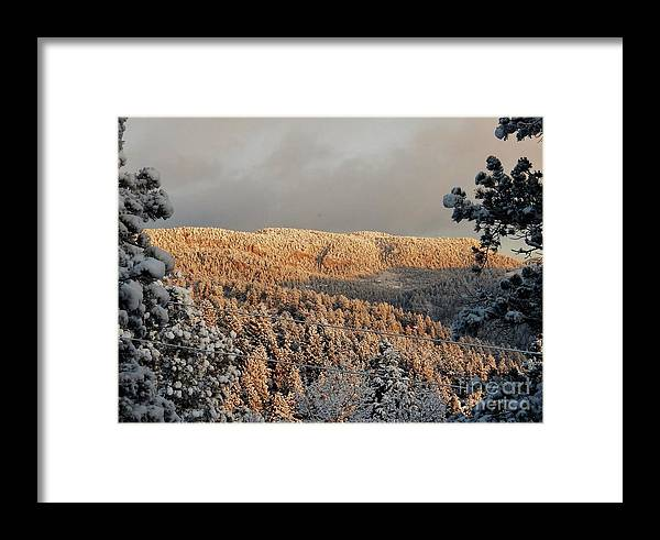 Winter Framed Print featuring the photograph First Rays Of The Day by CL Redding