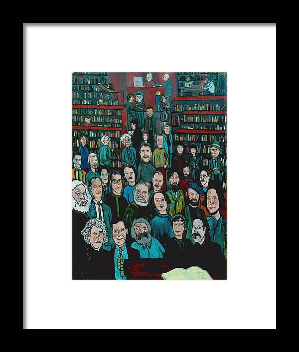 Writer Framed Print featuring the painting First Reading by Richard Hubal