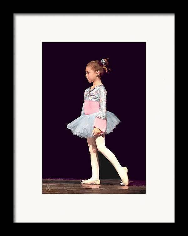Child Ballerina. Framed Print featuring the digital art First Recital by John Helgeson