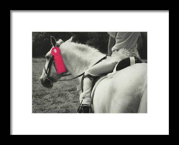 Horse Framed Print featuring the photograph First Show Red by JAMART Photography