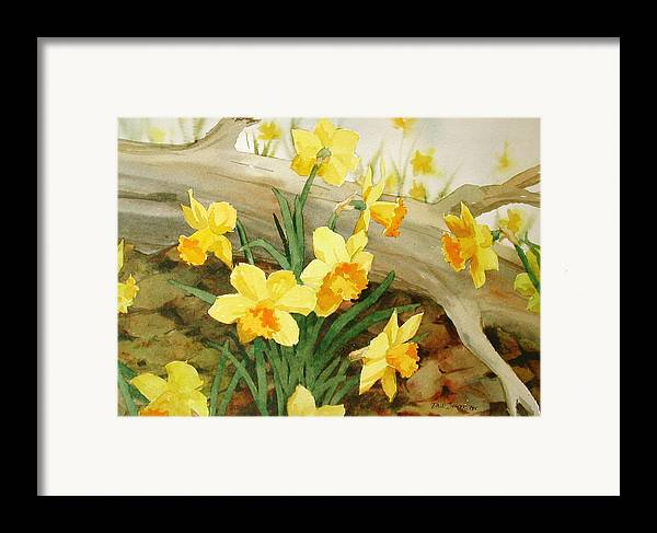 Spring Framed Print featuring the painting First Signs Of Spring by Faye Ziegler