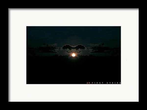 Nuclear Framed Print featuring the photograph First Strike by Jonathan Ellis Keys