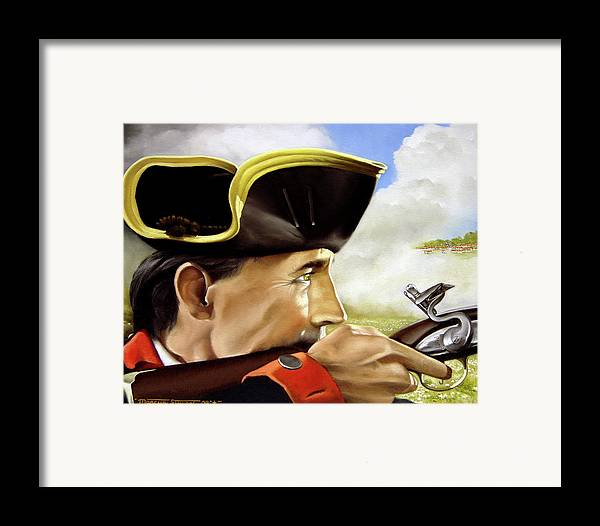 Continental Framed Print featuring the painting First To Fight by Marc Stewart