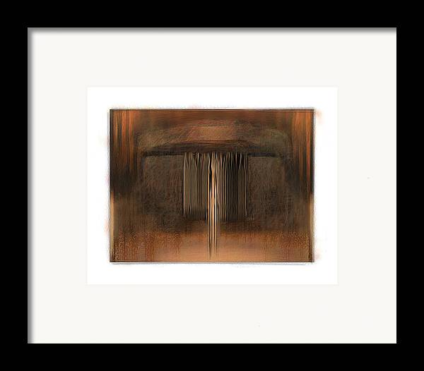 Abstract Framed Print featuring the digital art First Up Best Dressed by Nuff
