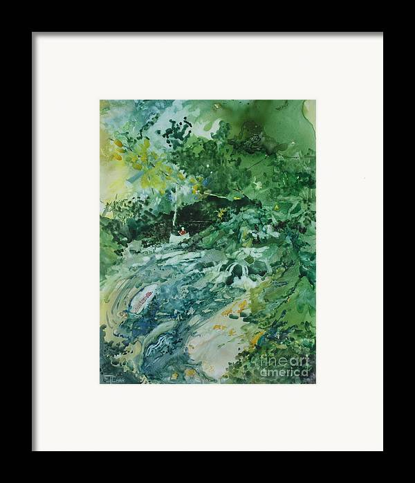 Green Framed Print featuring the painting Fish Ahead by Elizabeth Carr