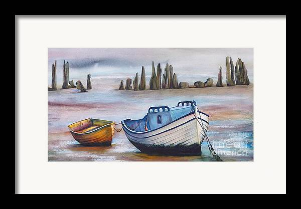 Ocean Framed Print featuring the painting Fish Another Day by Jany Schindler