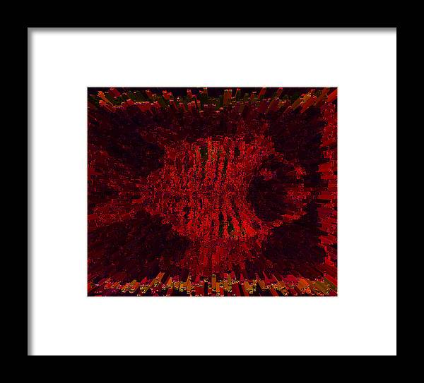 Fish Framed Print featuring the digital art Fish by Diana Maria Parra