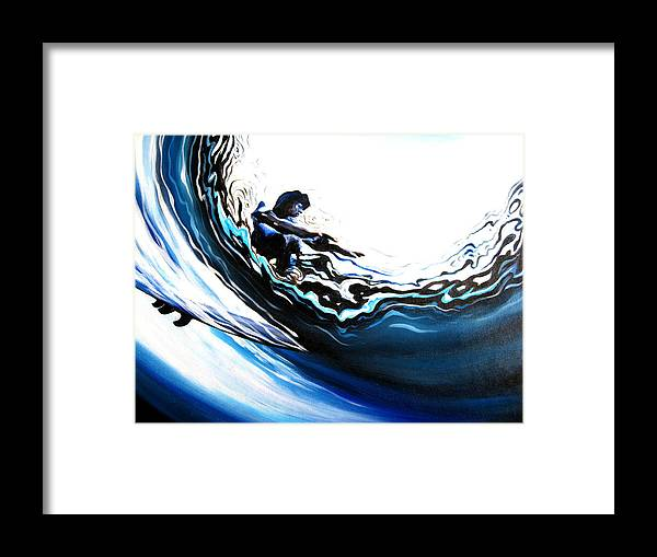 Surf Framed Print featuring the painting Fish Eye by Ronnie Jackson