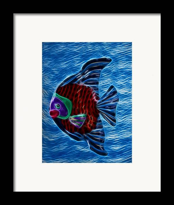 Fish Framed Print featuring the photograph Fish In Water by Shane Bechler