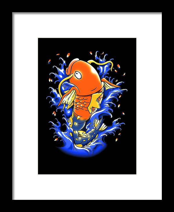 Fish Framed Print featuring the digital art Fish Lucky by Dyan Miytha