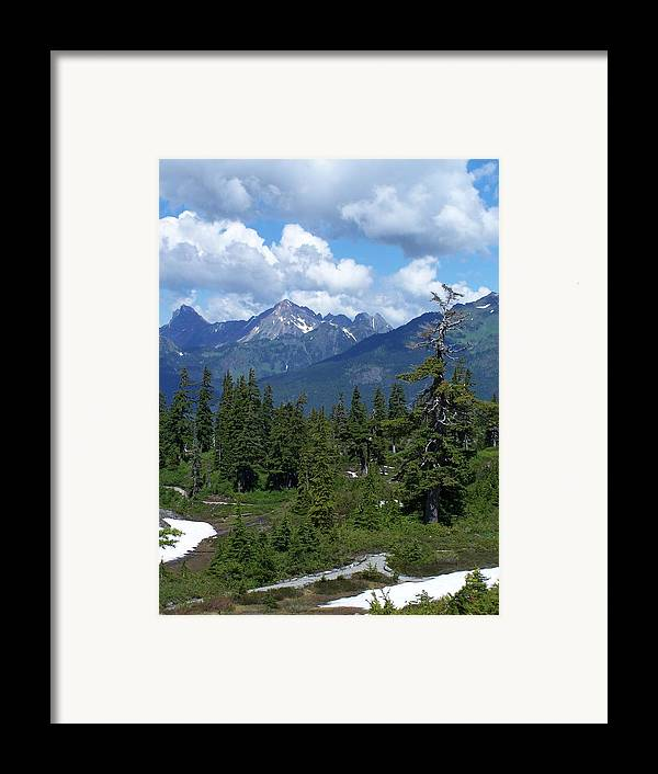 Cascades Framed Print featuring the photograph Fisher Chimney And Mt. Shuksan by Gene Ritchhart