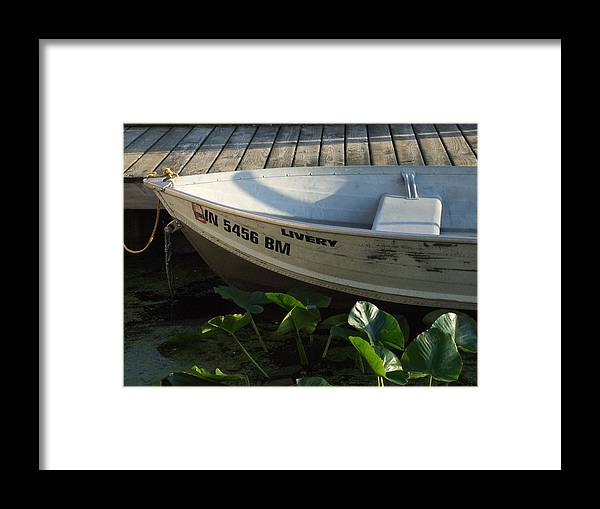 Lake Framed Print featuring the photograph Fisherman Cove Livery by Michael L Kimble