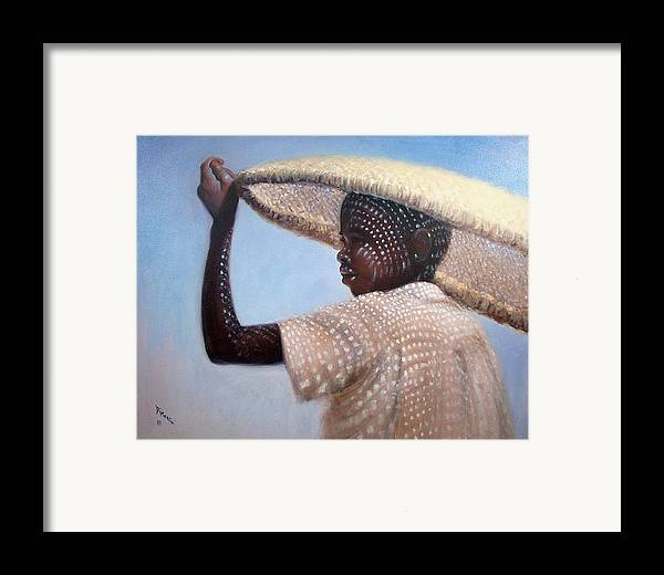 Realism Framed Print featuring the painting Fisherman by Donelli DiMaria