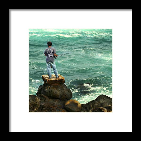 Americana Framed Print featuring the photograph Fisherman by Marilyn Hunt
