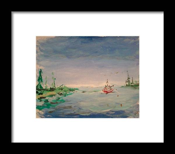 Fisherman Framed Print featuring the painting Fisherman by Todd Artist