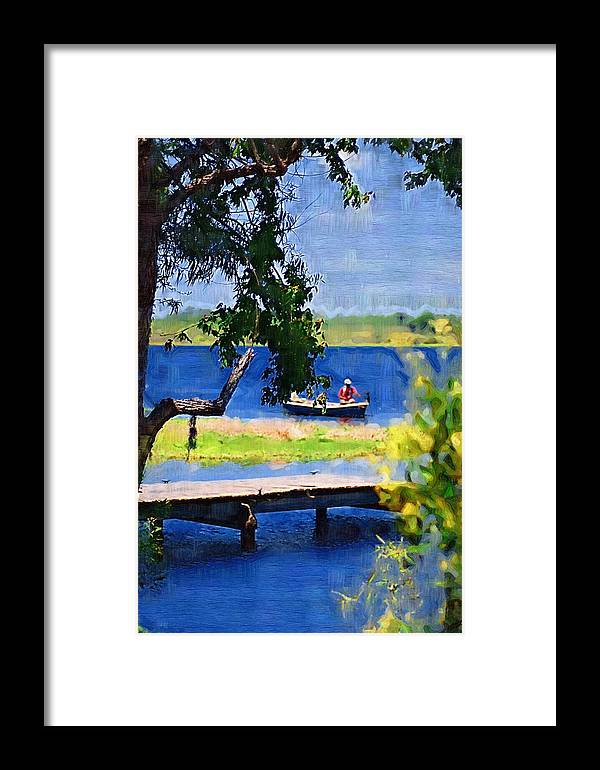 Ponds Framed Print featuring the photograph Fishin by Donna Bentley