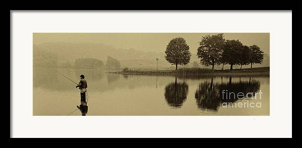 Fishing Framed Print featuring the photograph Fishing At Marsh Creek State Park Pa. by Jack Paolini