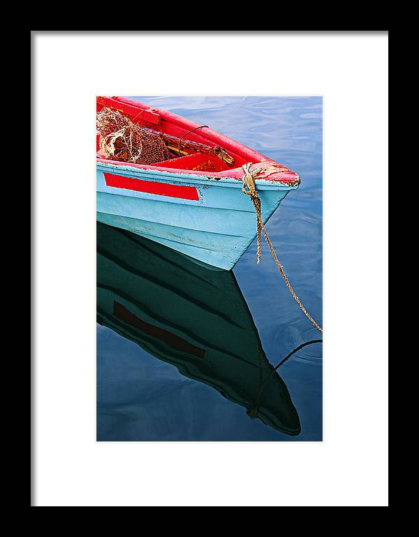 Fishing Framed Print featuring the photograph Fishing Boat-1-st Lucia by Chester Williams