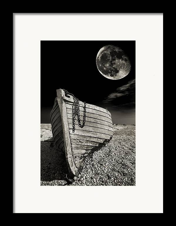 Moody Framed Print featuring the photograph Fishing Boat Graveyard 3 by Meirion Matthias