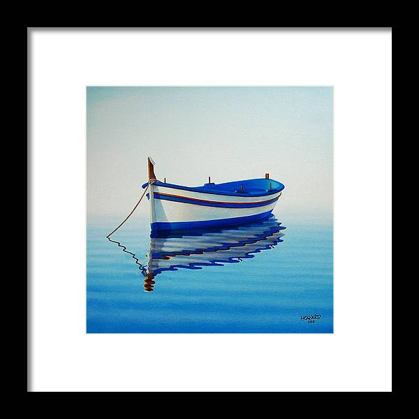 Fishing Framed Print featuring the painting Fishing Boat II by Horacio Cardozo