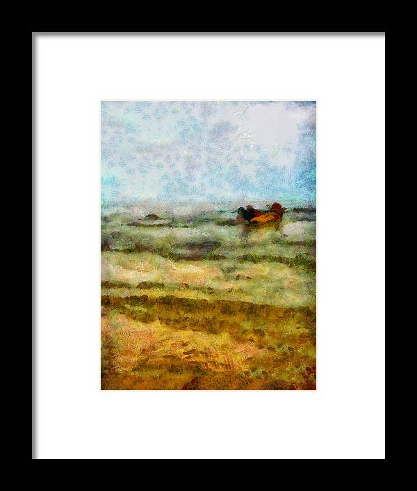 Abstract Framed Print featuring the photograph Fishing Boat by Galeria Trompiz