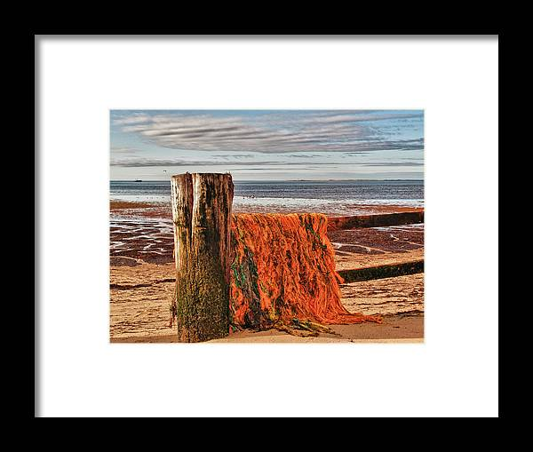 Seascape Framed Print featuring the photograph Fishing Nets In Province Town by Linda Pulvermacher