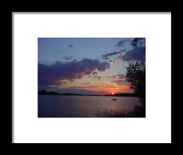 St.lawrence River Framed Print featuring the photograph Fishing On The St.lawrence River. by Jerrold Carton