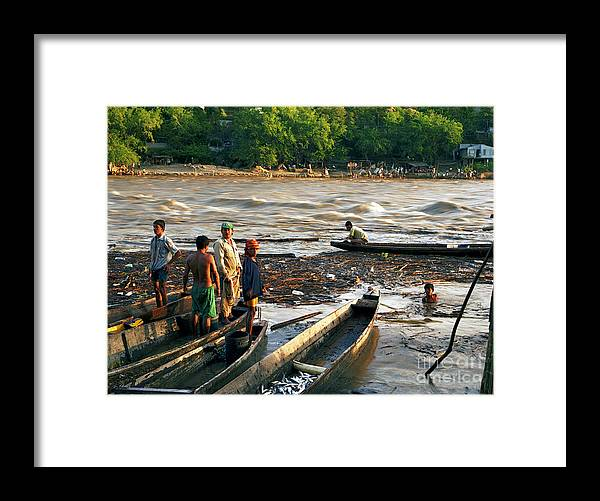 Water Framed Print featuring the photograph Fishing The River Magdalena by Lawrence Costales