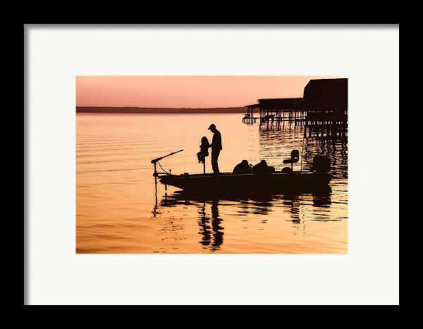 Fishing Framed Print featuring the photograph Fishing With Daddy by Bonnie Barry