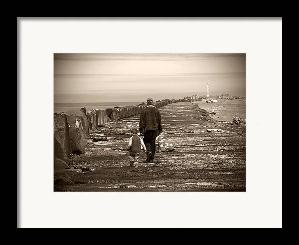Fishing Framed Print featuring the photograph Fishing With Grandpa by Jessica Wakefield