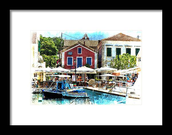 Kephalonia Framed Print featuring the photograph Fiskardo Dreaming by Brenda Kean